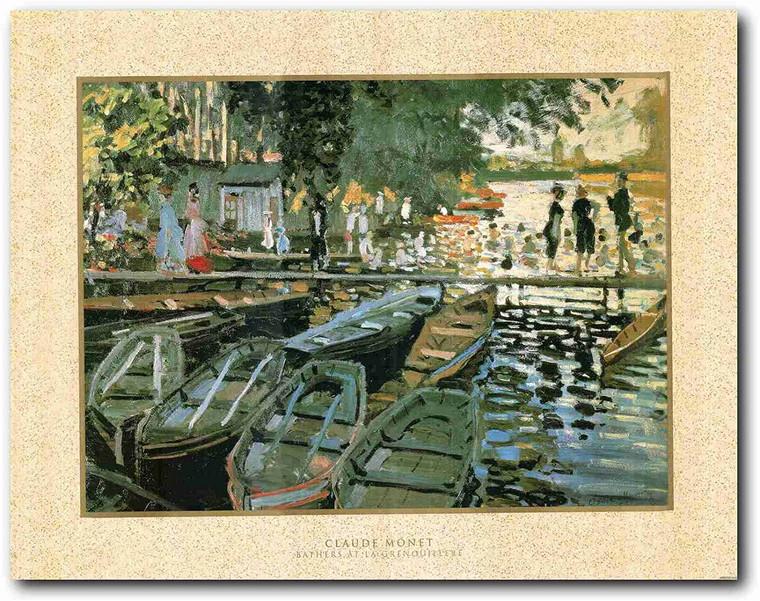 Picture Wall Art Bathers at La Grenouillere Claude Monet Decor Print Poster Painting (22x28)