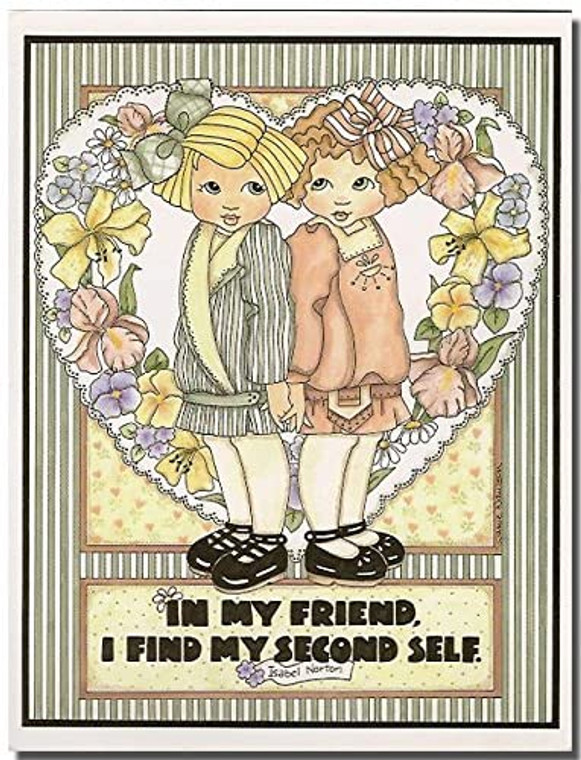 in My Friend I Find My Second Self. Friends Quotes Wall Décor Art Print Poster (11x14)