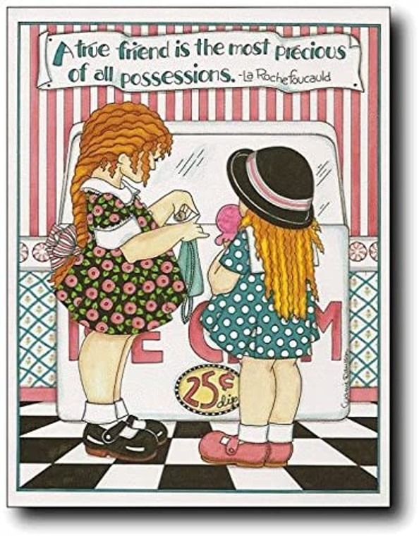 A True Friend Is the Most Precious of All Possessions. Motivational Wall Decor Art Print Poster (11x14)