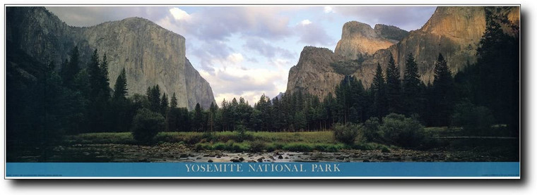 California Yosemite National Park Scenery Nature Poster Art Print (12x36)