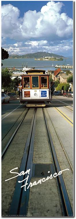 San Francisco City Cable Car Alcatraz Island Wall Decor Art Print Poster (12x36)