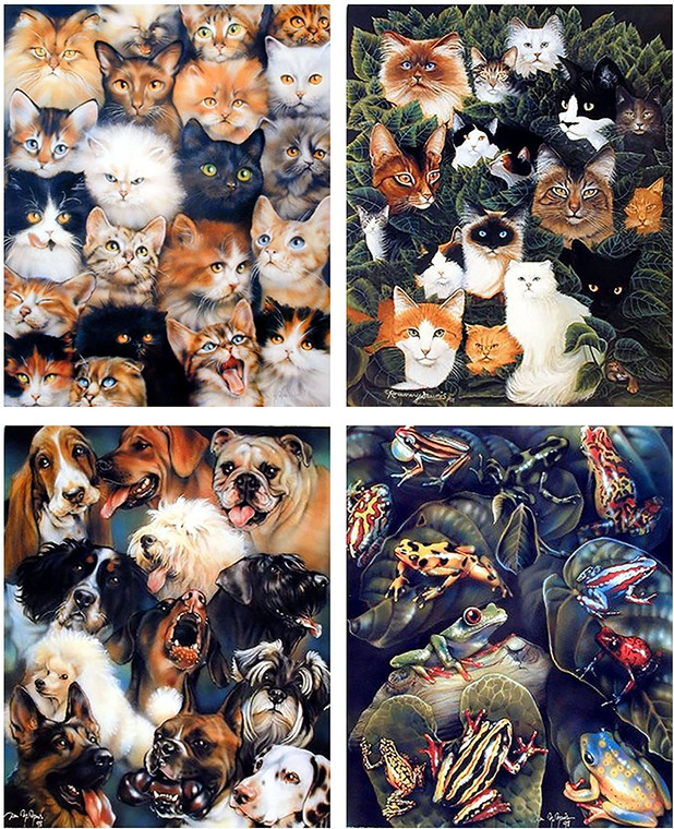 Cat And Dog Breed Wall Decor Cute Animal Collage Kids Room 16x20 Four Set Frog & Toad Art Print Poster