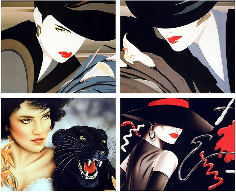 Exotic Vogue Wall Decor Lady Fashion With Black Panther 16x20 Four Set Art Print Poster