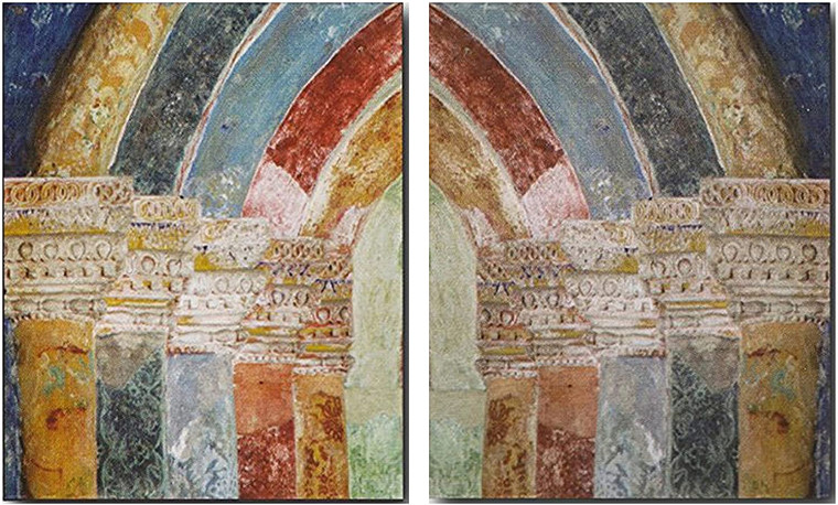 Wall Decoration Art Print - Architectural Portal Column Picture 16x20 Two Set Poster
