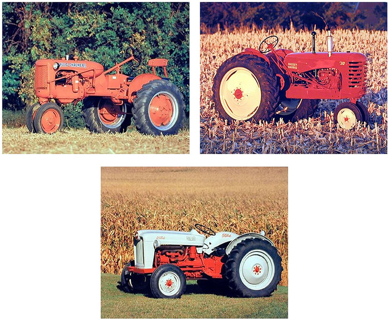 Farm Tractor Wall Decor Picture Ford Vintage Farming 16x20 Three Set Art Print Posters