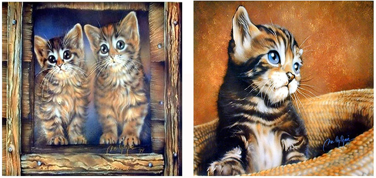 Cute Kitten Cat Animal Kids Room Wall Decor Picture 16x20 Two Set Art Print Poster