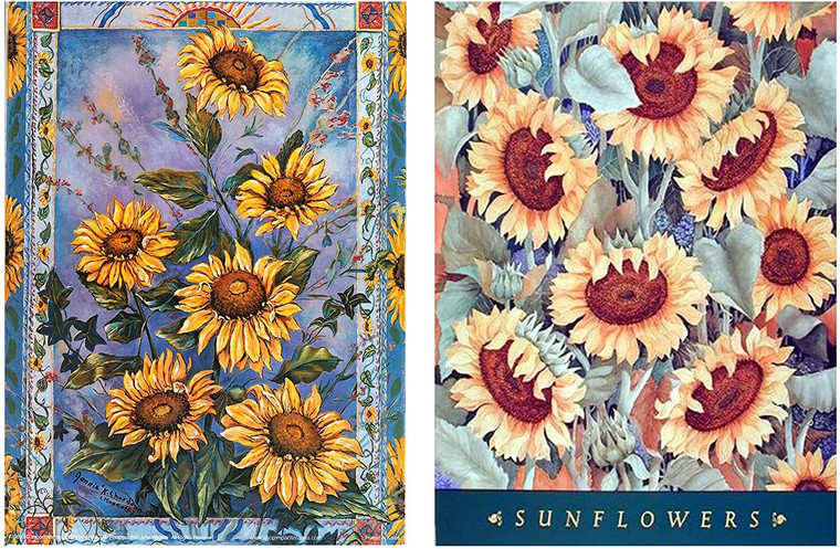 Country Sunflowers Floral Painting 16x20 Two Set Wall Decor Art Print Posters