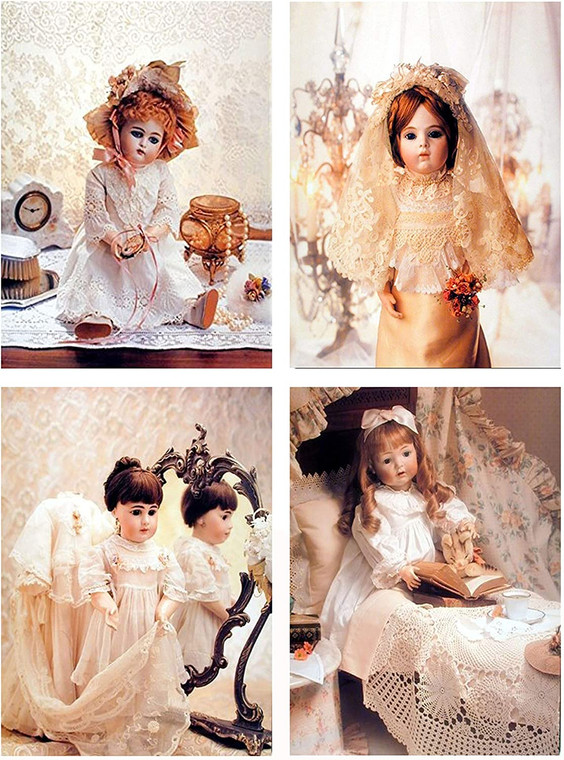 Cute Baby Doll's Wall Decor Kids Bedroom Picture 16x20 Four Set Girls Room Art Print Posters