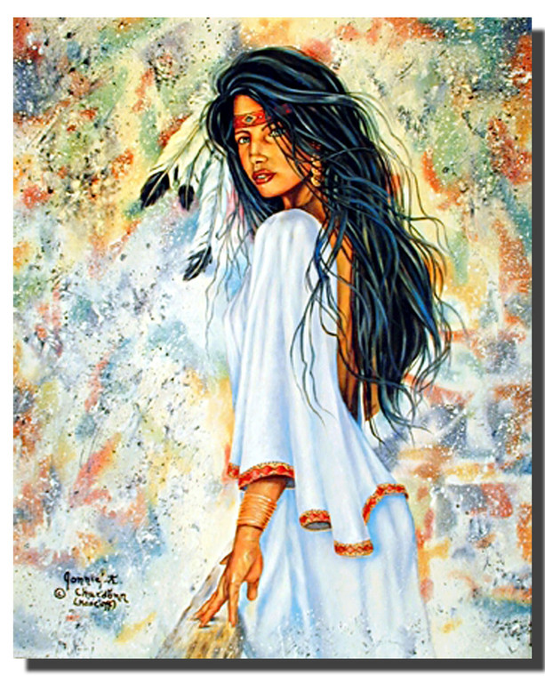 Indian Maiden Print Posters