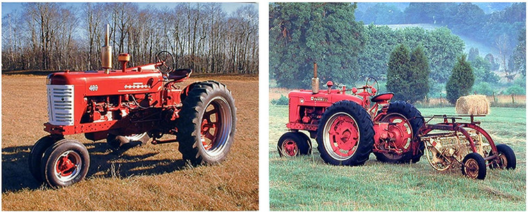 Wall Decor Art Print Red Vintage Farmall Farming Tractor Two Set Picture (8x10)