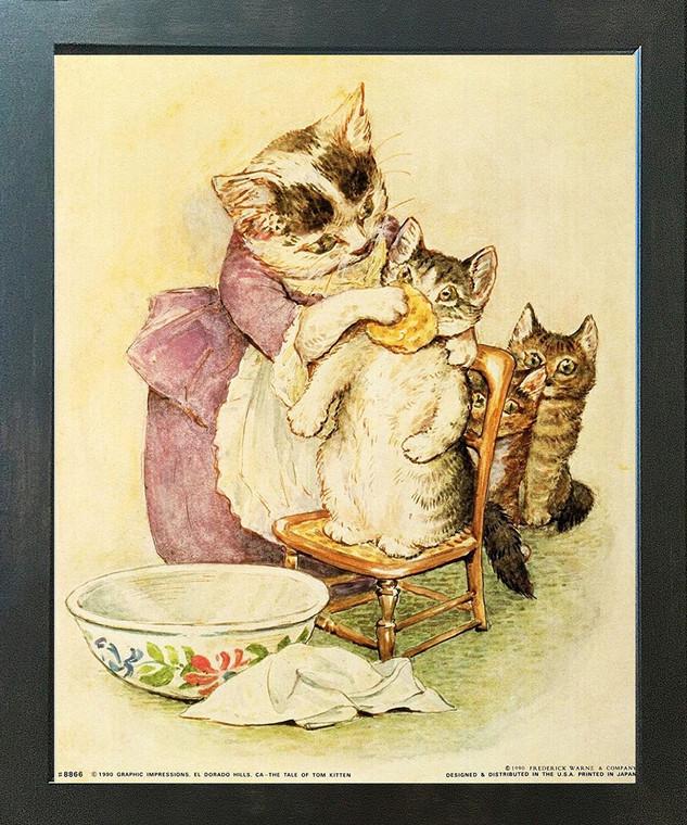 Framed Wall Decoration The Tale of Tom Kitten Beatrix Potter Kids Room Espresso Art Print (18x22)