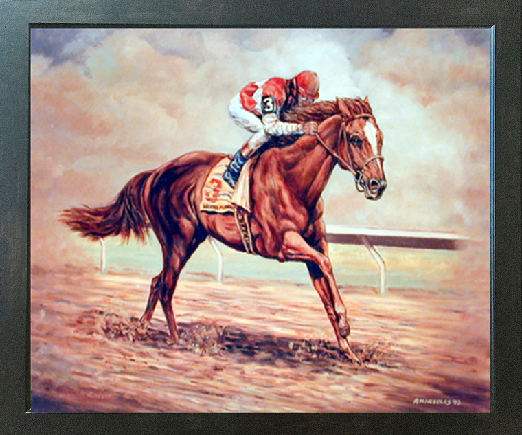 Western Cowboy Rodeo Horse Racing Old West Espresso Framed Picture Art Print