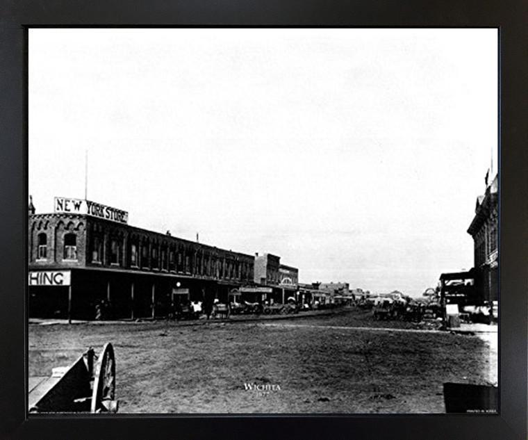 Kansas 1877 Black Framed Wall Decor Art Print Picture (18x22)