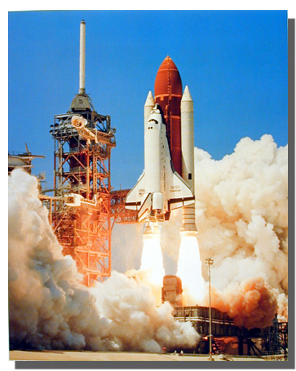 NASA Space Shuttle Blastoff Poster