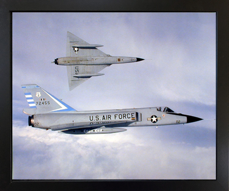 Framed Wall Decor Picture F-106 Delta Dart Aviation Aircraft Black Art Print (18x22)