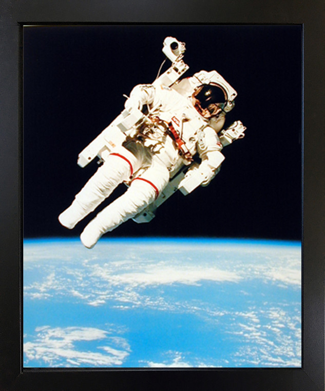 Impact Posters Gallery NASA Astronaut in Space Educational and Motivational Black Framed Wall Decor Picture Art Print (18x22)