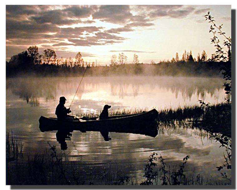 Sunset Fisherman Posters