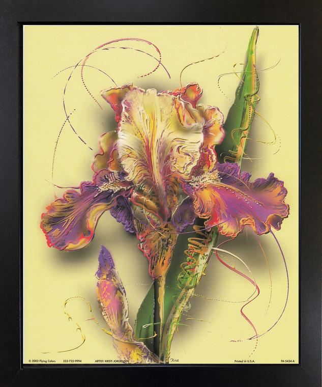 Tulip Flower Floral Fine Black Framed Wall Decor Art Print Picture (18x22)