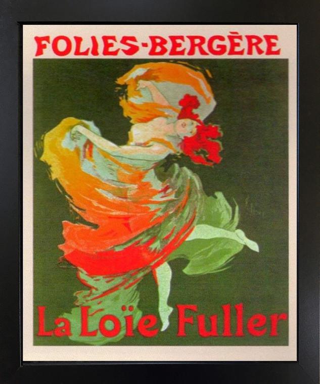 Fashion Girl Dance Dancing La Loie Fuller Folies Bergere Vintage Black Framed Wall Decor Art Print Picture (18x22)