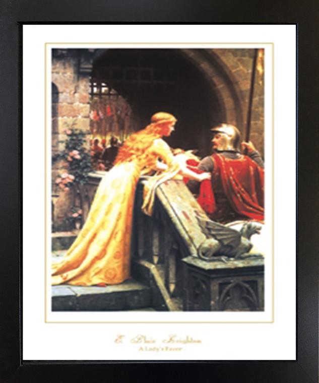 God Speed by Edmund Blair Leighton Black Framed Wall Decor Art Print Picture (18x22)