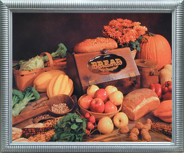 Impact Posters Gallery Food and Bread Still Life Kitchen Silver Picture Art Print Framed Wall Decor (20x24)