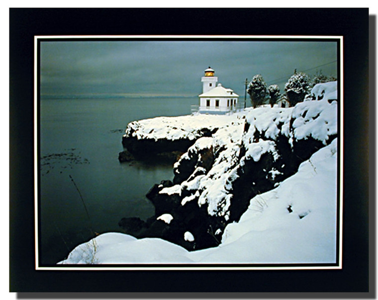 Snowy Lighthouse Poster
