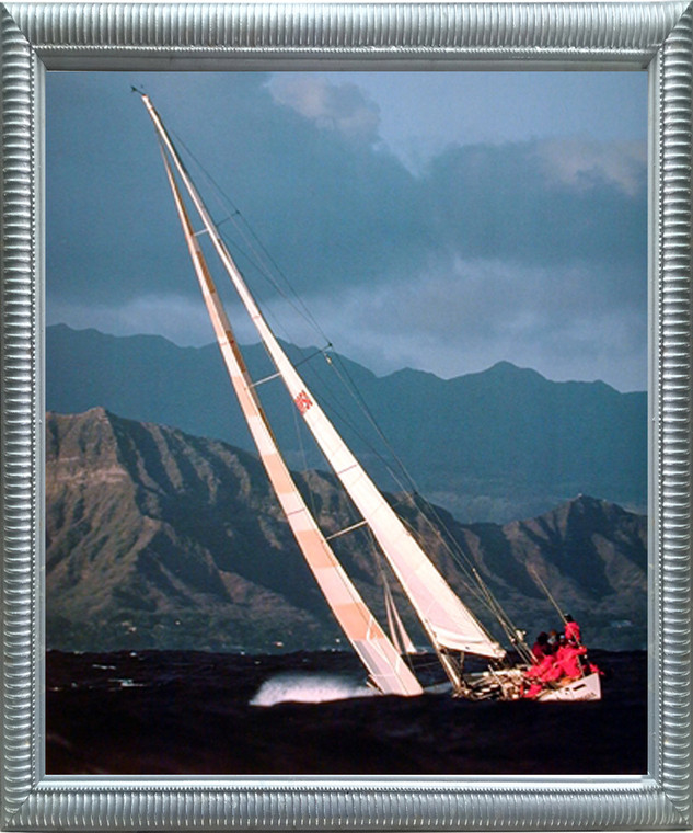 Impact Posters Gallery Sea Sailboat Tall Ship Ocean Nature Scenery Wall Decor Silver Framed Picture Art Print