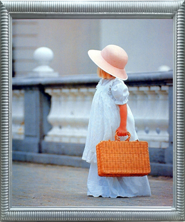 Impact Posters Gallery Girl Traveling Alone Inspirational Kids Room Wall Decor Silver Framed Picture Art Print