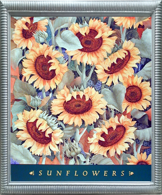 Impact Posters Gallery Sunflowers Floral Nature Flower Wall Decor Silver Framed Picture Art Print