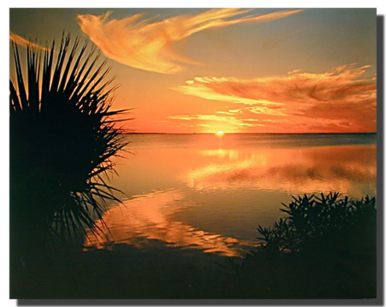 Sunset on Laguna Madre Posters
