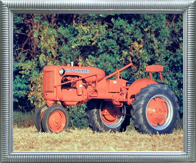 Impact Posters Gallery 1948 Allis Chalmus C Vintage Tractor Farming Picture Silver Art Print Framed Wall Decor