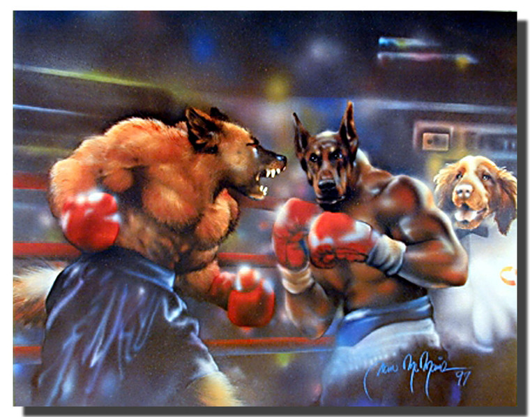 Boxing Dogs Poster