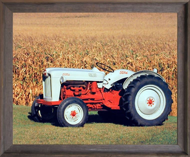 1953 Ford NAA Golden Jubilee Farm Vintage Tractor Wall Decor Barnwood Framed Picture Art Print (19x23)