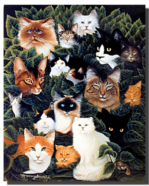Cat Collage Poster