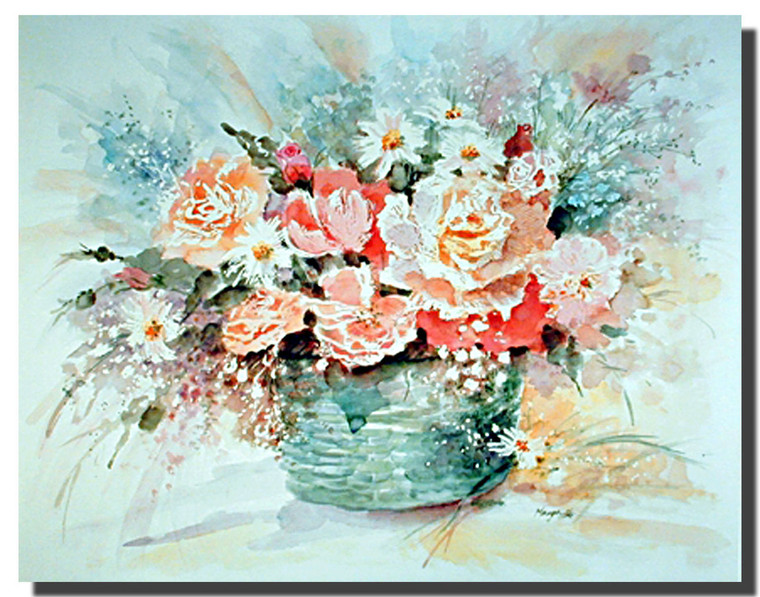 Basket of Flowers Posters