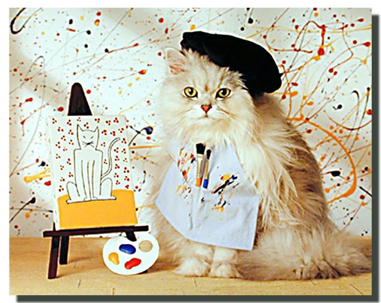 Painter Cat Poster
