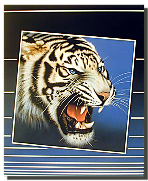 White Tiger Blind Poster