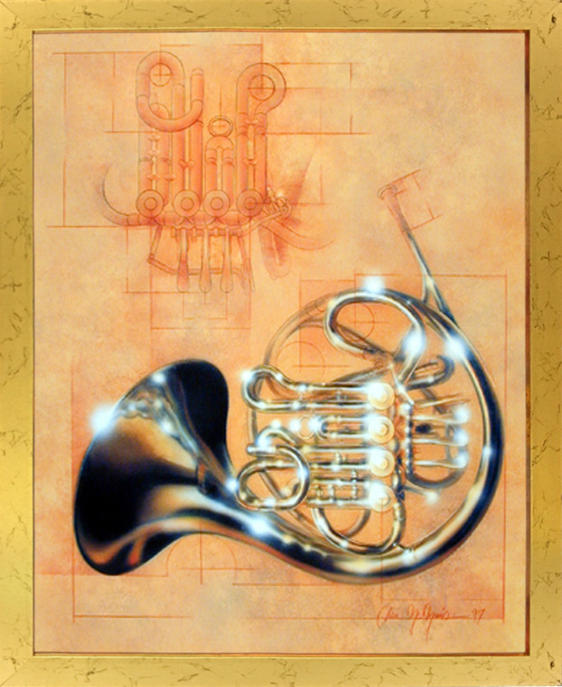 Impact Posters Gallery French Horn Musical Instrument Dan McManis Picture Art Print Framed Wall Decoration