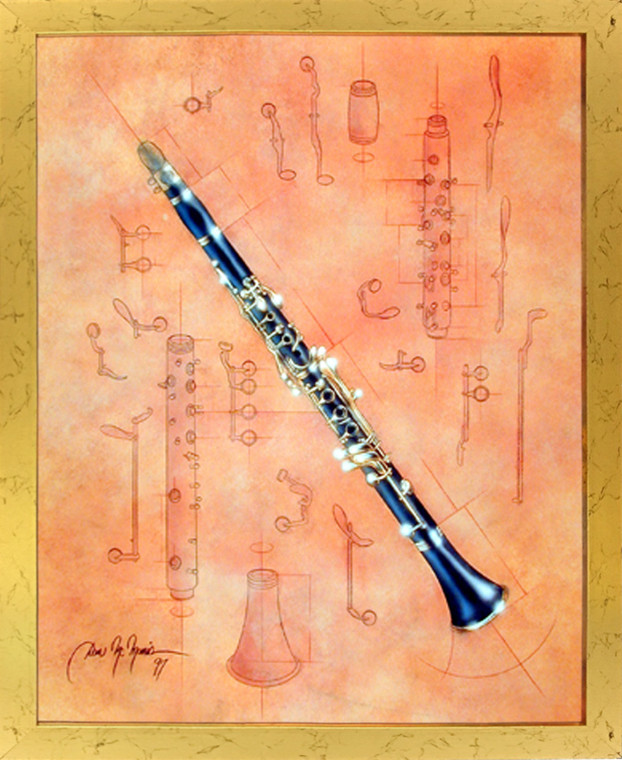 Impact Posters Gallery Fine Arts Musical Instrument Clarinet Picture Art Print Framed Wall Decor