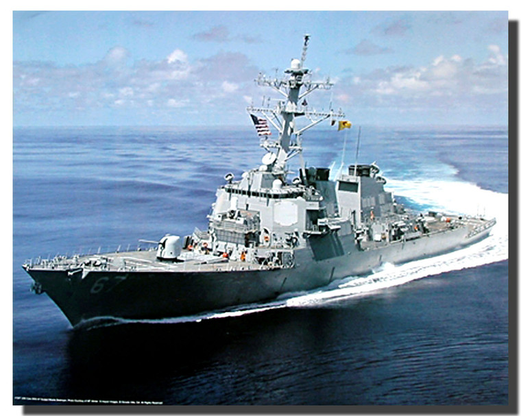 USS Cole DDG 67 Guided Missile Destroyer Poster