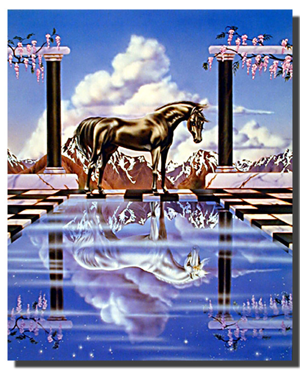 Unicorn Poster- Pool Reflection