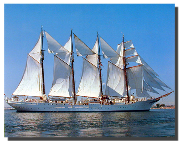 Four Masted Sailboat Poster
