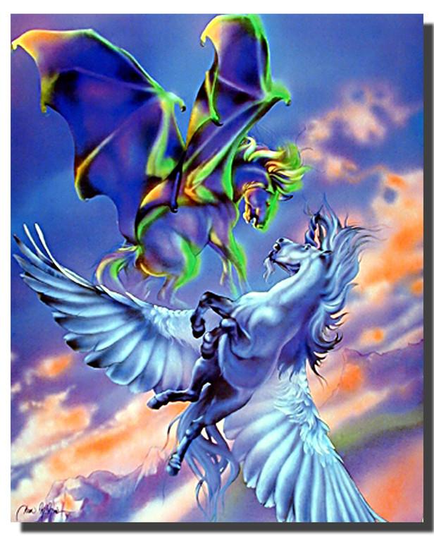 Fighting Pegasus Poster