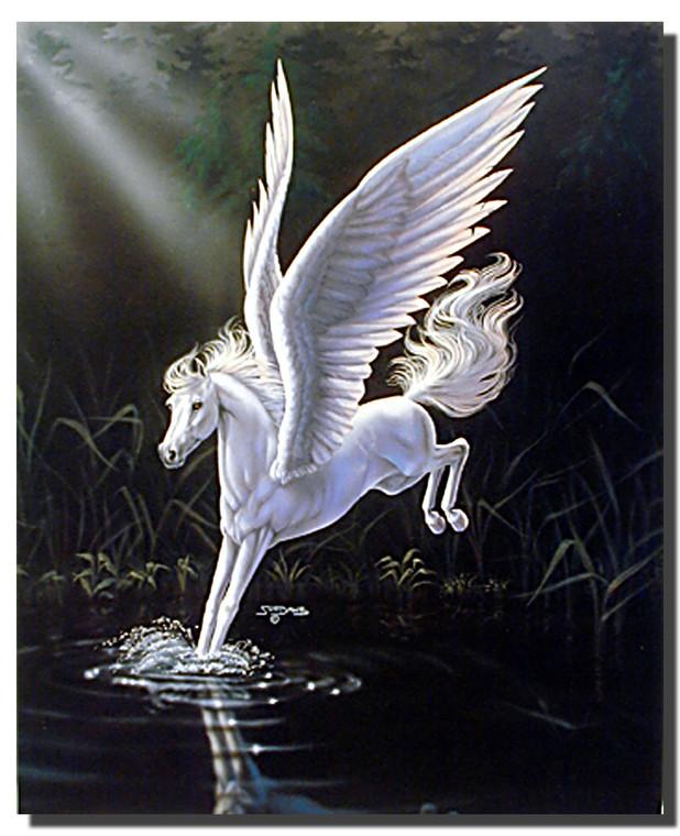 Mythical White Horse Poster- Fantasy