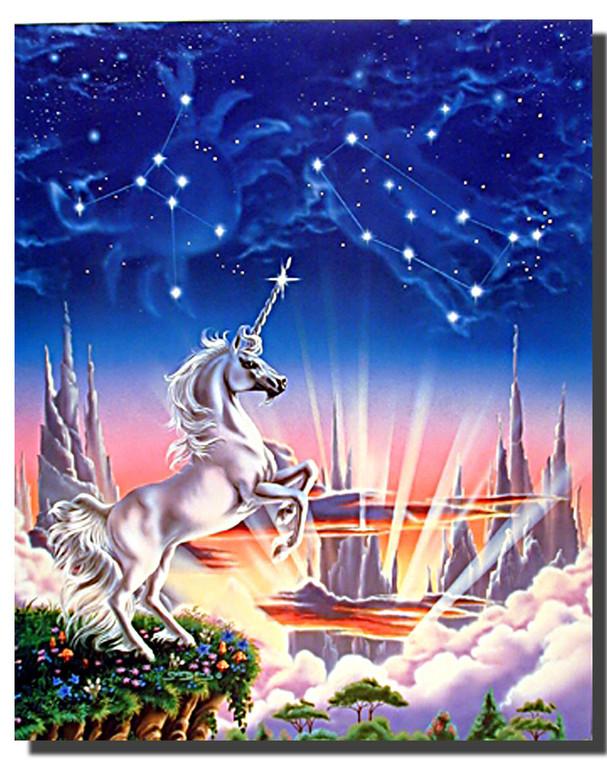 Unicorn Poster - Starry Night