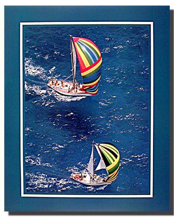 Aerial Sailboats Poster