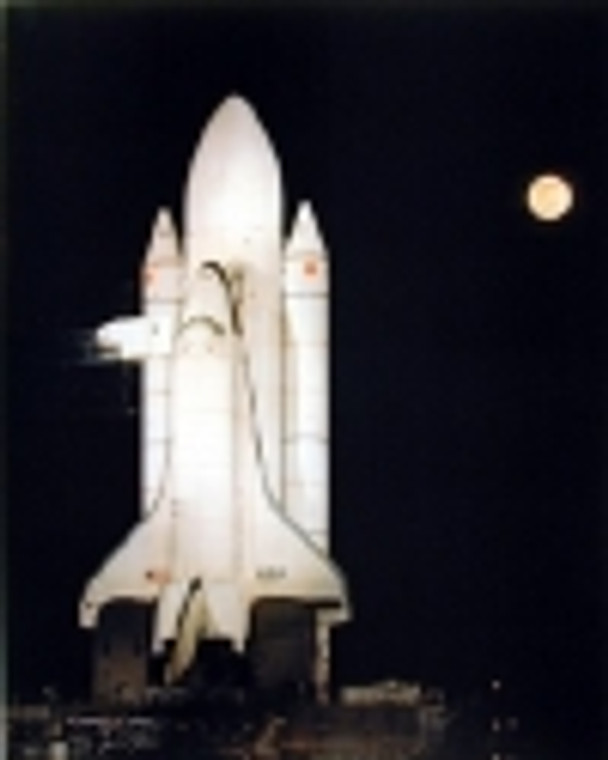 Shuttle at Night Poster