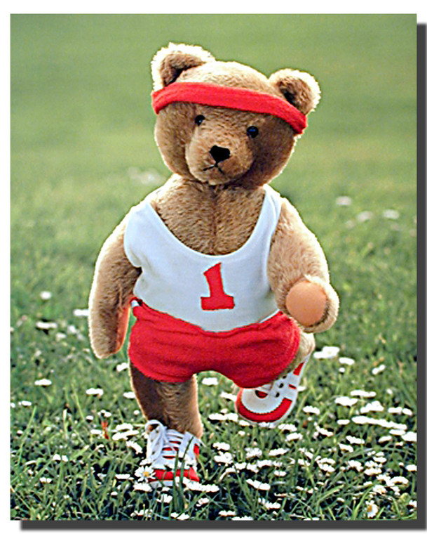 Teddy Bear at Jogging Posters