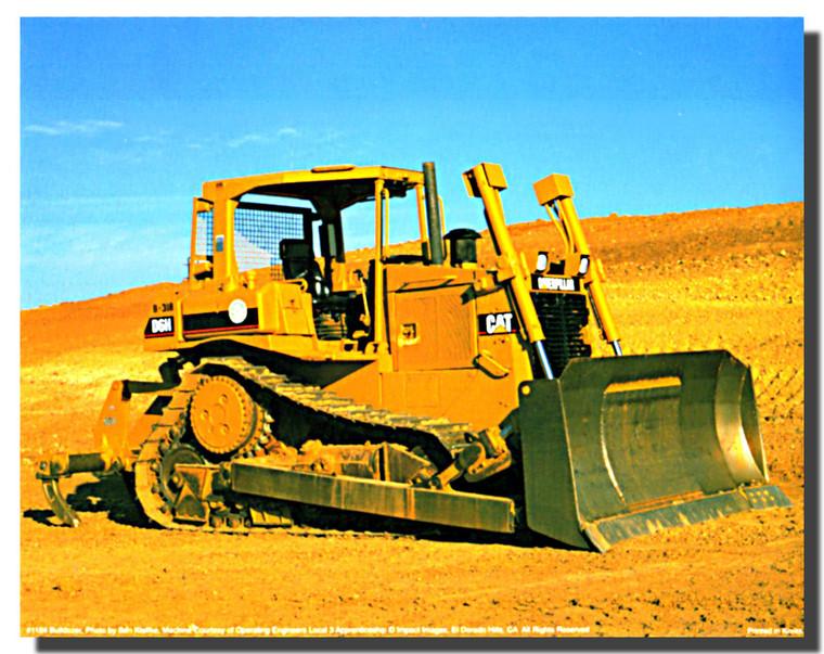 Wall Decor Caterpillar 988B Wheel Loader Art Print Poster (16x20)