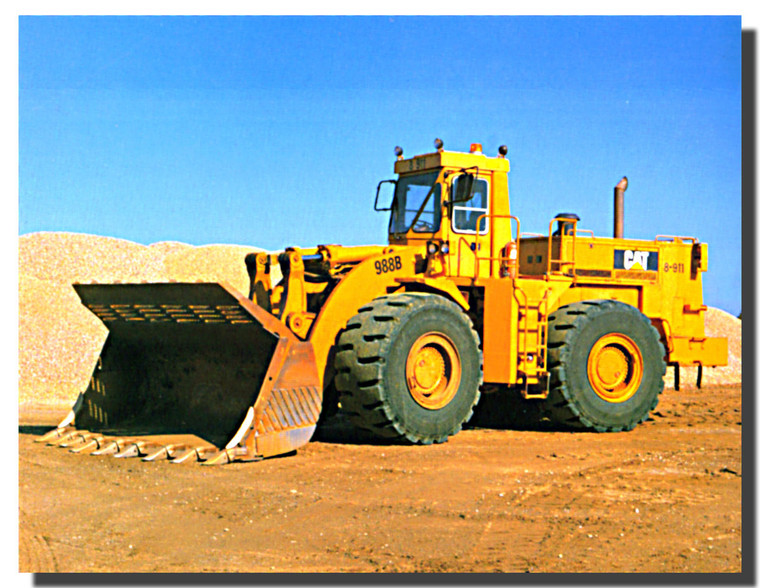 Caterpillar 988B Wheel Loader Poster